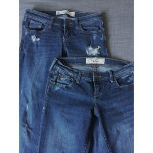 Abercrombie / Hollister Low Rise Jeans 2 Pair Lot